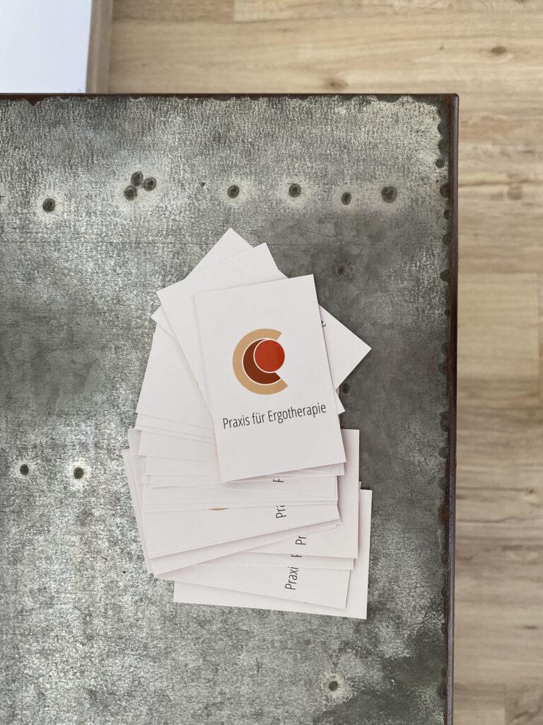 Visitenkarten der Praxis für Ergotherapie Saarbrücken - Christopher Reichardt